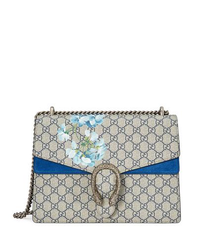 Dionysus GG Blooms Medium Shoulder Bag, Blue/Multi
