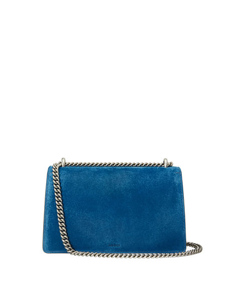 Dionysus Small Suede Shoulder Bag, Bright Blue