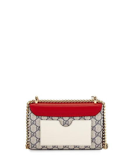 Padlock GG Supreme Small Shoulder Bag, Beige/Red