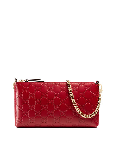 Guccissima Wrist Wallet, Red