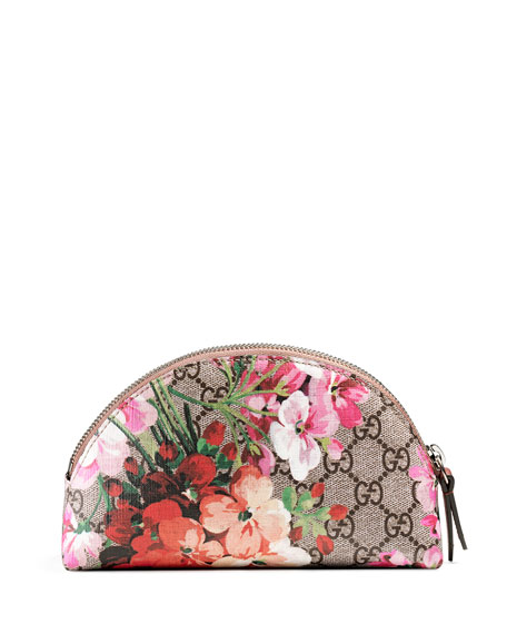 GG Blooms Cosmetic Case, Multicolor/Rose