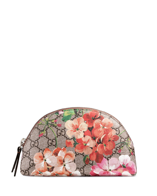 dc7e31d5a5f975 Gucci GG Blooms Cosmetic Case, Multicolor/Rose | Neiman Marcus