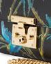 Padlock Small Tropical-Print Shoulder Bag, Black/Multi