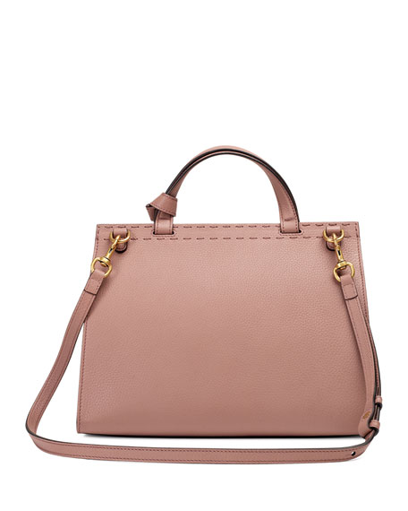 GG Marmont Small Top-Handle Satchel Bag, Taupe