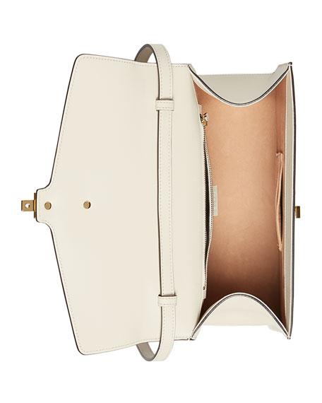 Sylvie Leather Top-Handle Satchel Bag