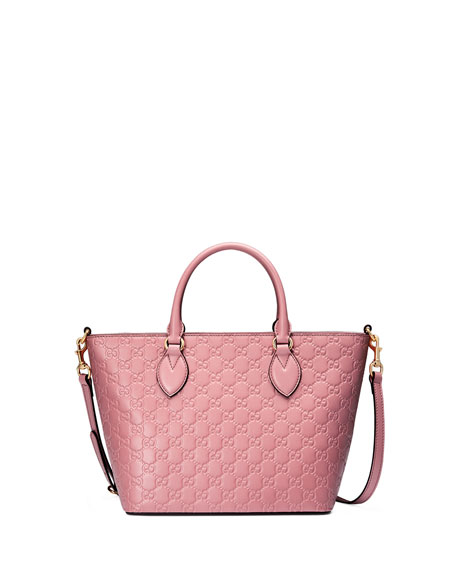 gucci guccissima small leather tote bag light pink. Black Bedroom Furniture Sets. Home Design Ideas
