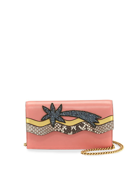 Gucci Broadway Shooting Star Clutch Bag, Pink/Multi