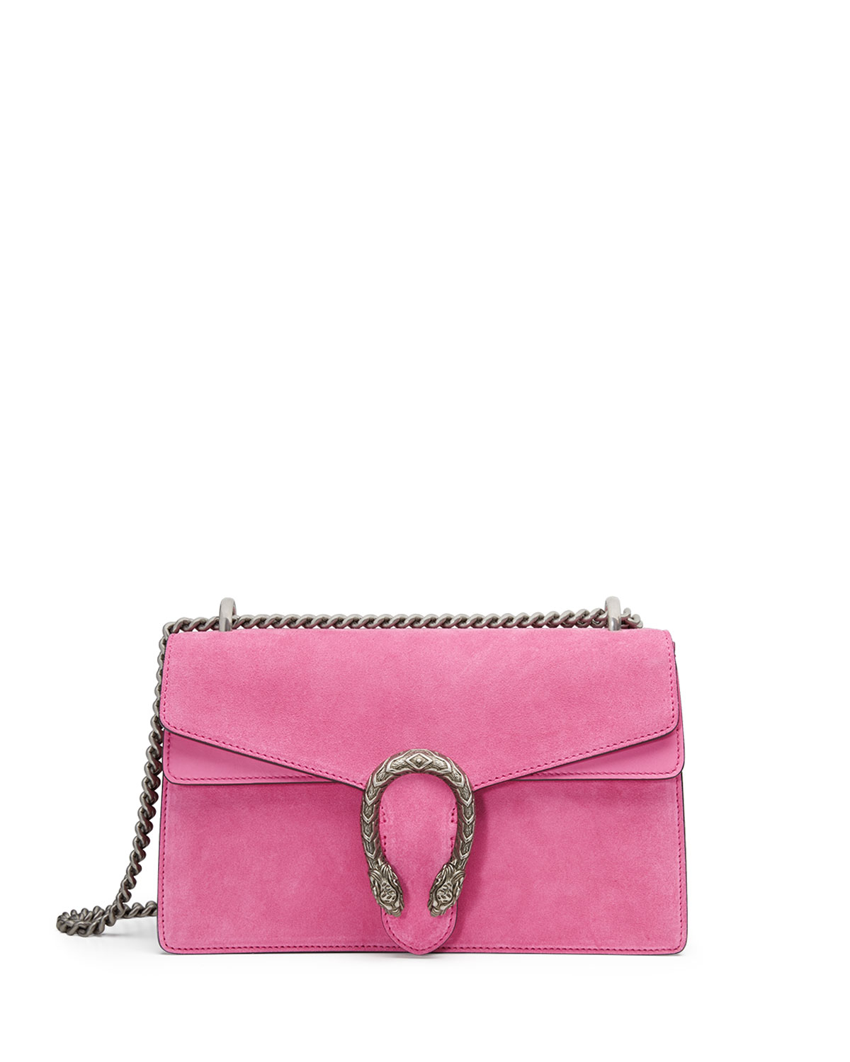 Gucci Dionysus Small Suede Shoulder Bag, Bright Pink | Neiman Marcus