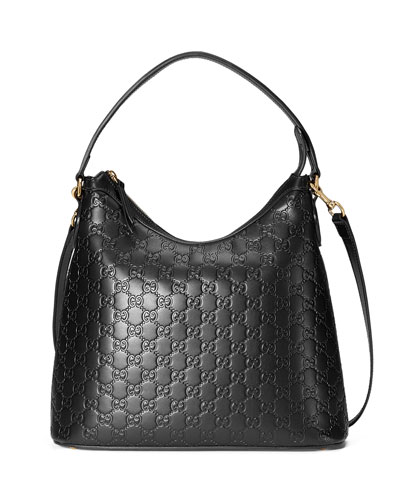 Guccissima Medium Hobo Bag, Black