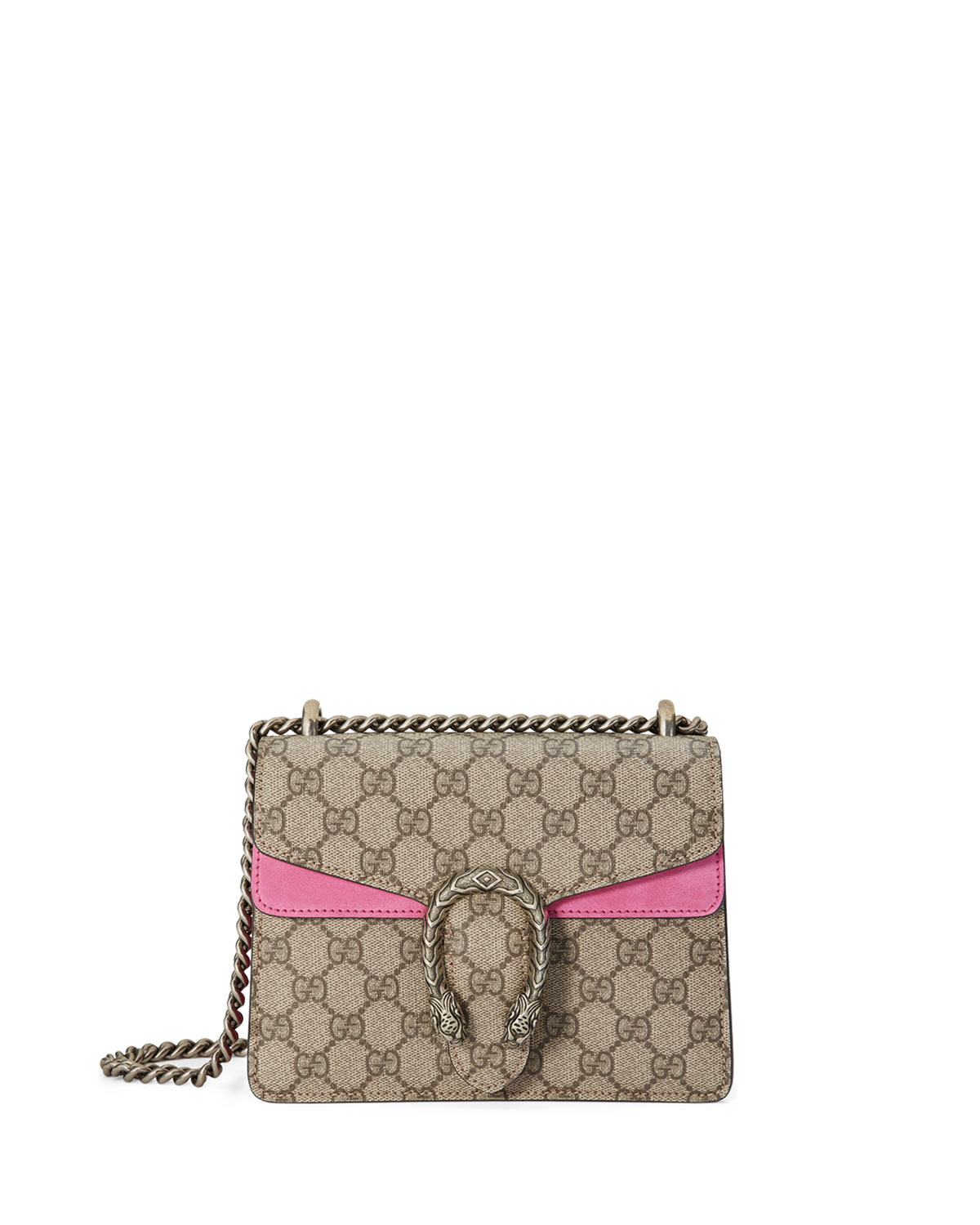 ee668bc275f0 Gucci Dionysus GG Supreme Mini Shoulder Bag, Beige/Bright Pink ...