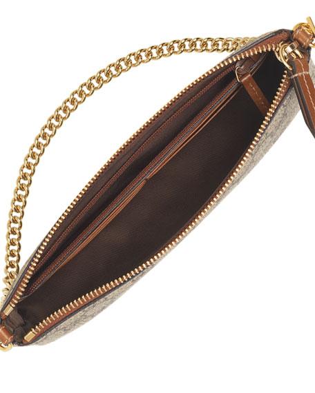 GG Supreme Canvas Wrist Wallet, Beige/Ebony