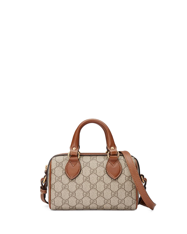 cb5cf021826b Gucci Gg Supreme Mini Top Handle Satchel Bag Cognac Multi Neiman