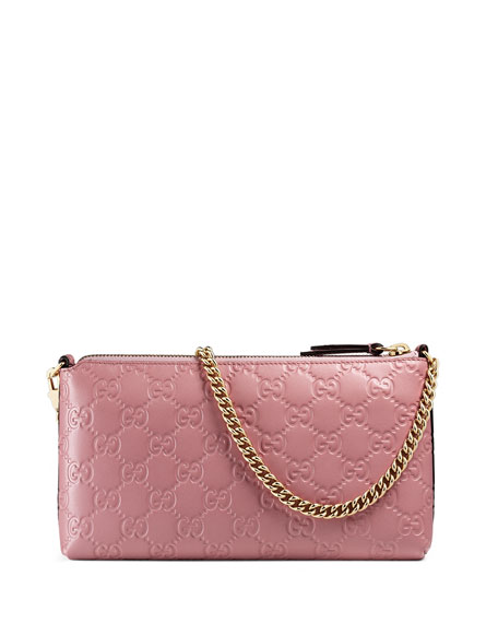 Guccissima Wrist Wallet, Light Pink