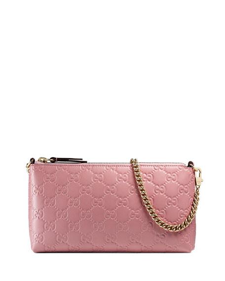 Guccissima Wrist Wallet, Light Pink