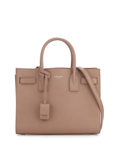 Sac de Jour Baby Grain Leather Satchel Bag, Blush