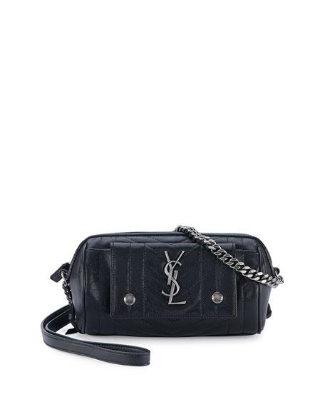 Monogram Camera Crossbody Bag, Fuchsia
