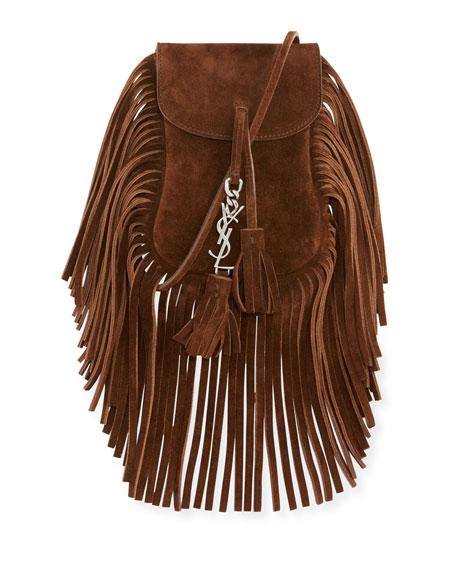 Anita Toy Flat Suede Fringe Crossbody Bag, Brown