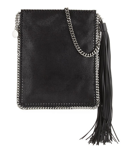 Stella McCartney Falabella Tassel Fringe Shoulder Bag, Black
