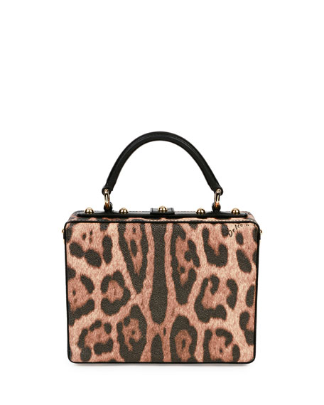 Stefano/Domenico Leopard-Print Top-Handle Box Bag, Multicolor