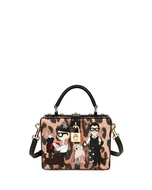 a9525e88f80 Dolce   Gabbana Stefano Domenico Leopard-Print Top-Handle Box Bag ...