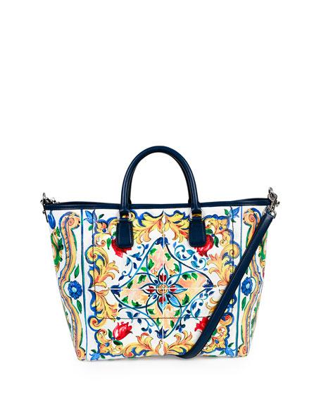 Dolce & Gabbana St. Maioliche Tile Shopper Tote