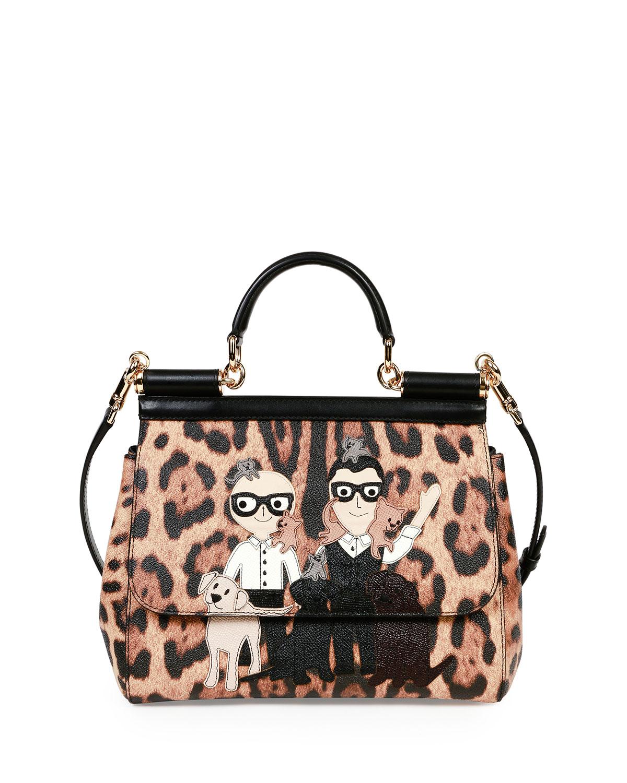 a2de8faed9 Dolce   GabbanaMiss Sicily Medium Stefano Domenico Leopard-Print Satchel Bag