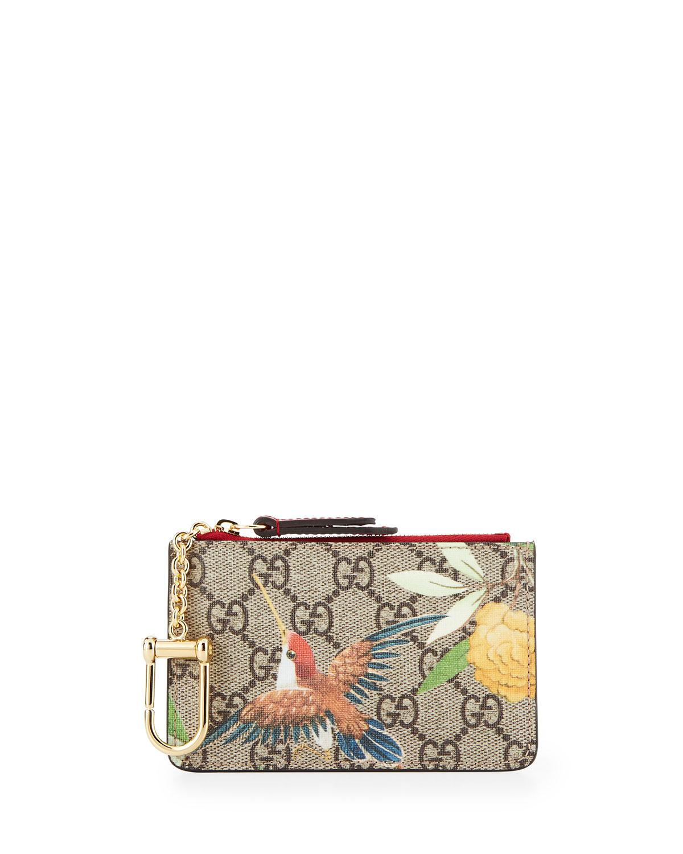 9fe328eba24 Gucci Tian-Print GG Supreme Canvas Key Case