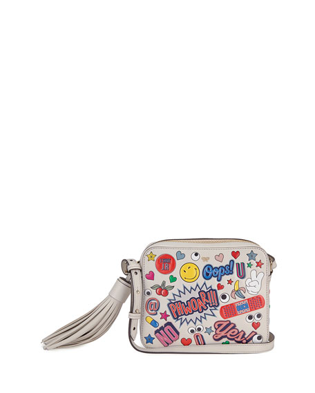 Anya Hindmarch Allover Wink Sticker Crossbody Bag, Multi