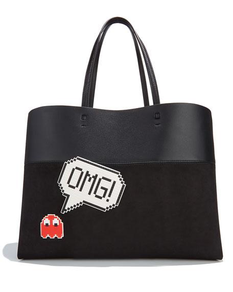 OMG Jumbo Sticker for Handbag, White