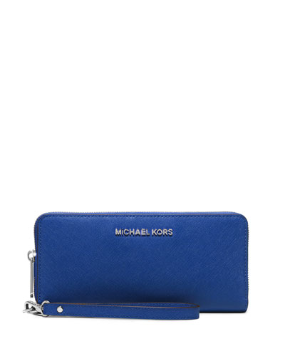 Jet Set Travel Continental Wristlet Wallet, Electric Blue