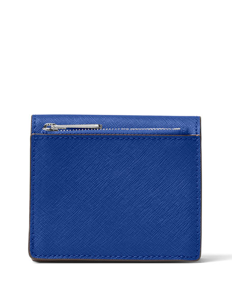 Jet Set Travel Carryall Saffiano Card Holder, Electric Blue
