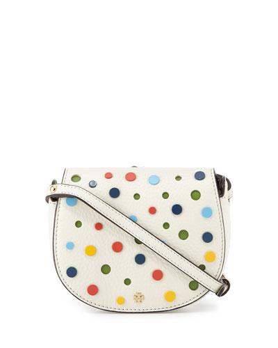 Confetti Mini Saddle Bag, Ivory