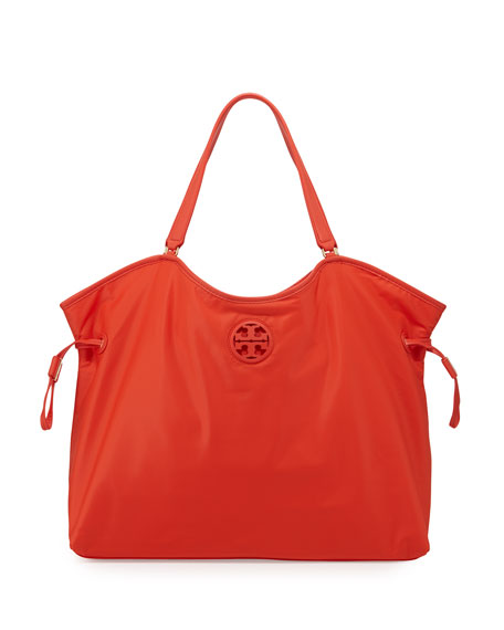 Tory Burch Slouchy Nylon Tote Bag, Red