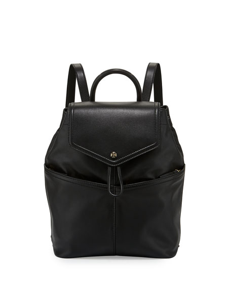 Tory Burch Avery Leather Backpack, Black