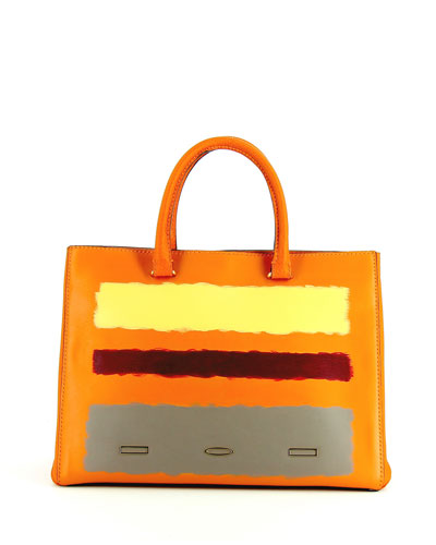 Rothko Pandora Leather Tote Bag, Tangerine