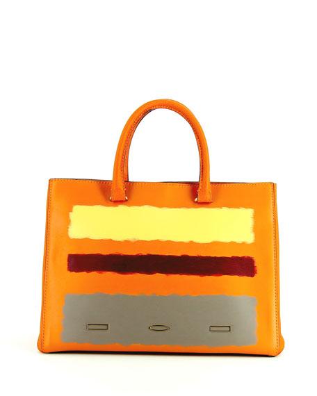 VBH Rothko Pandora Leather Tote Bag, Tangerine