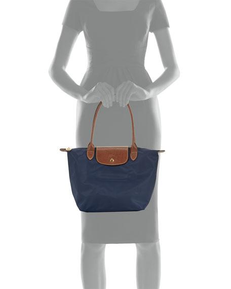 Le Pliage Medium Monogram Shoulder Tote Bag New Navy