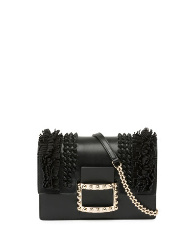 e5bd7269ef Roger Vivier Viv Micro Knots Fringes Shoulder Bag