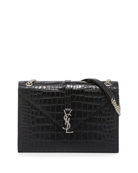 Saint Laurent Monogram Large V-Flap Chain Shoulder Bag,