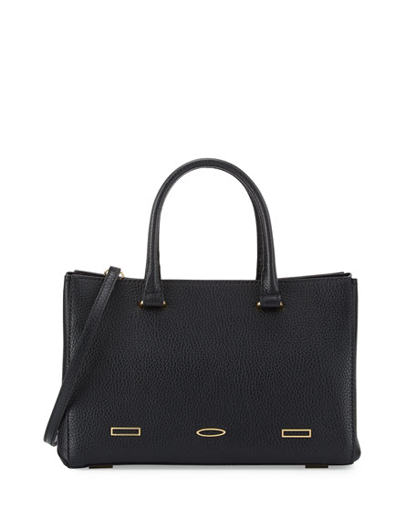 VBH Pandora Demi Leather Tote Bag, Black
