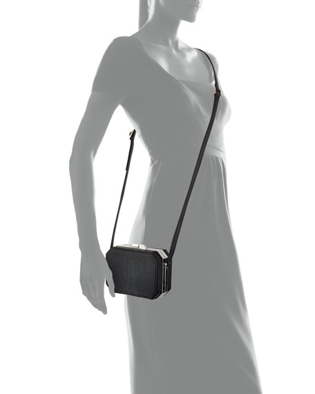 Jazz Octagonal Crossbody Bag, Black