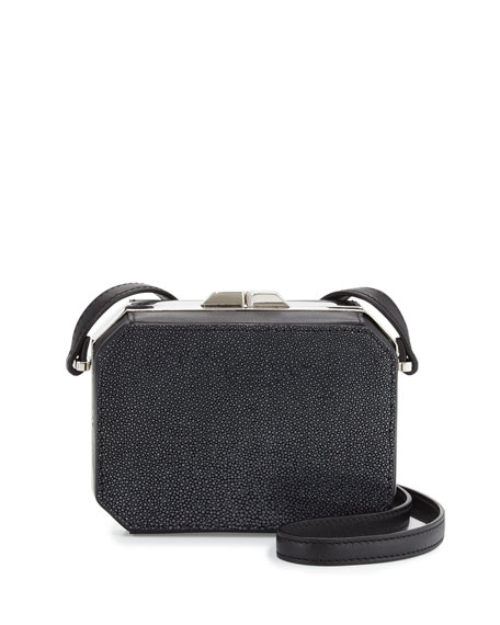 Jazz Octagonal Crossbody Bag, Black