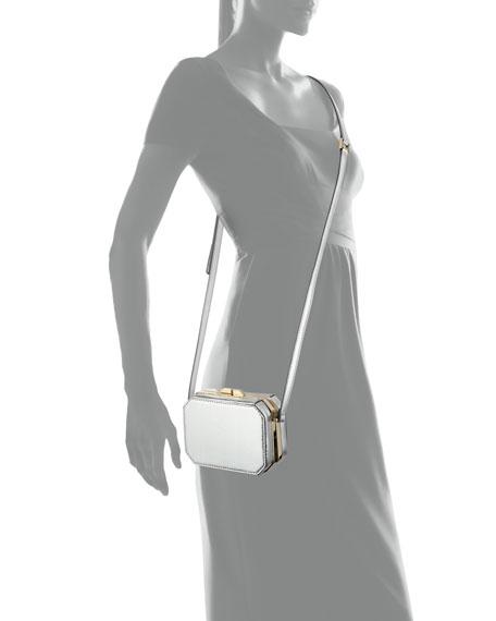 Jazz Octagonal Crossbody Bag, Silver