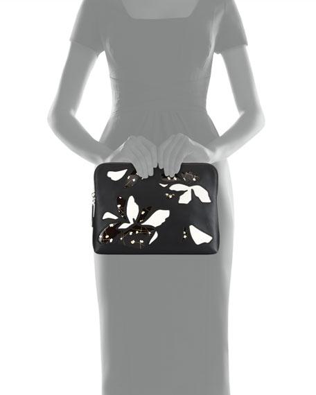 31 Minute Zip Cosmetics Bag, White/Black