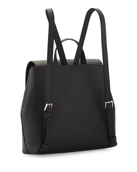 cameron street neema leather backpack, black
