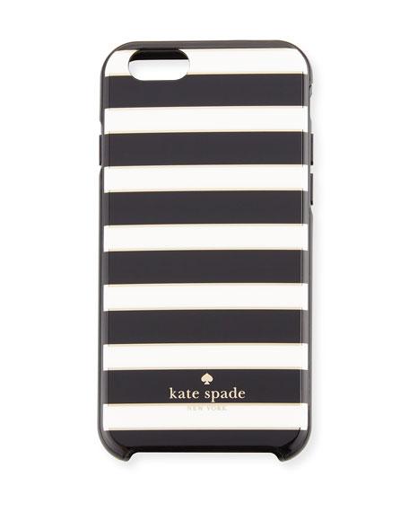 metallic striped iPhone 6/6s case, black/cream