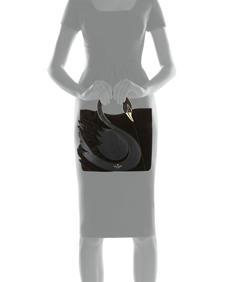 on pointe swan handle bag, black
