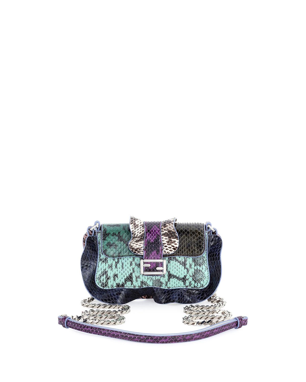 8dc86c9808 Fendi Baguette Micro Wave Crossbody Bag