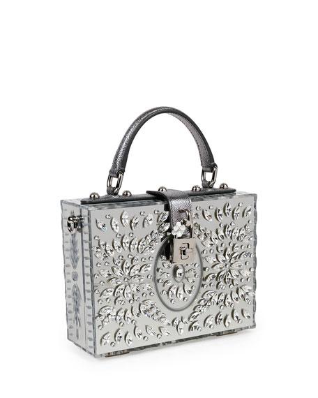 Dolce Box Medium Mirror Crystal Shoulder Bag