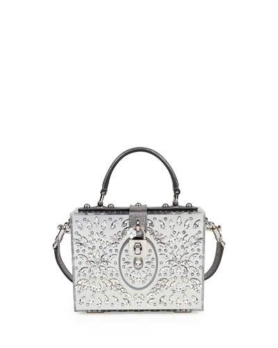 Dolce Box Medium Mirror Crystal Shoulder Bag